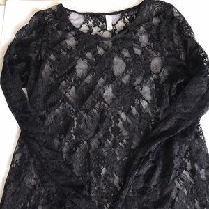 Black Lace Top XL